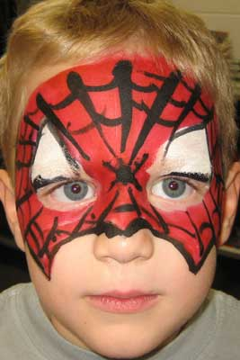 Face painting - Spider-Man